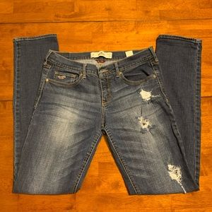 Hollister Laguna Skinny Distressed Skinny Jeans 9L